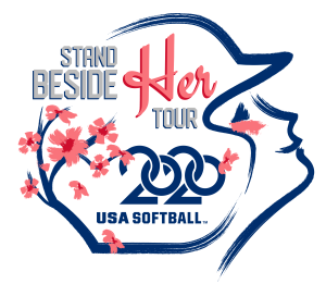 USA Softball 2020 - Stand By Her Tour - Logo