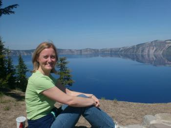 Sitting by Crater Lake