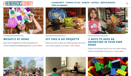 Hendricks County Community At-Home page