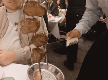 Fogo de Chao Meat Pieces on Skewer
