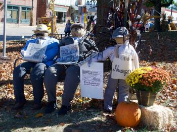 Scarecrows on the Courthouse Square