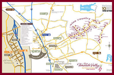 Temecula Valley Wine Country Map
