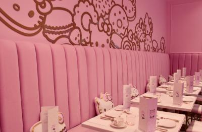 Interior of the Bow Room at Hello Kitty Grand Cafe