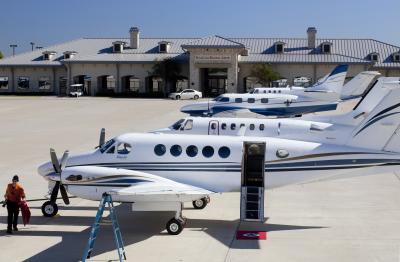 Planes at Sugar Land Regional Airport