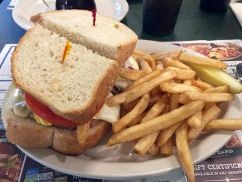 The monstrous Pittsburgh sandwich at The Metro Diner will fill any belly.