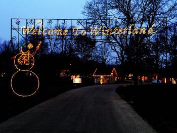 Winterland Light Show at Ellis Park in Danville