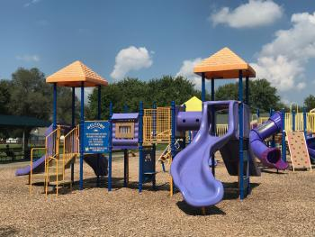 The kiddos will love this large playground at Franklin Park.