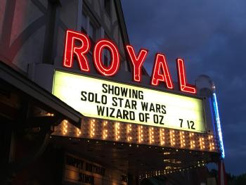 My kids' favorite place to watch movies is the Royal Theater in Danville.