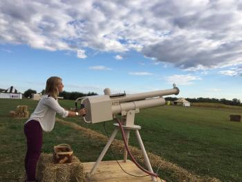 Apple cannon at Beasley's Orchard