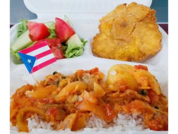 Rice dish from Puerto Rican Spice food truck