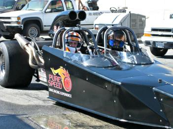 The Pure Speed Drag Racing Experience at Lucas Oil Raceway will get your blood pumping!