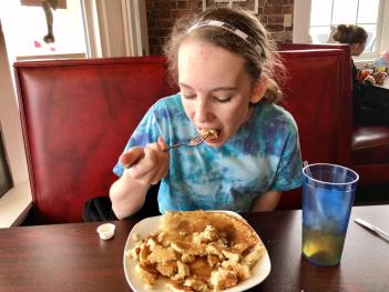 My picky teenage daughter loved the pancakes at Dawnn's Diner in Coatesville.