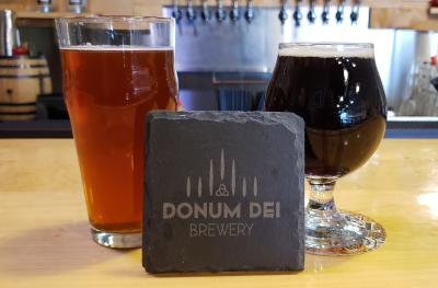 Two Pints of Beer from Donum Dei Brewery