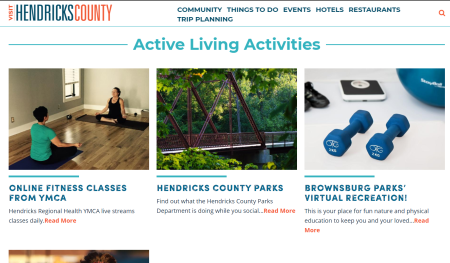 Active Living Community page