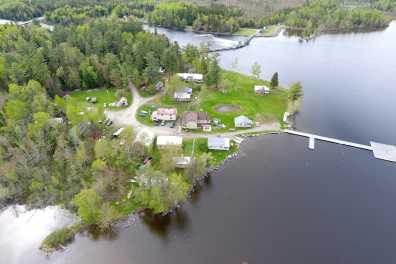 Aerial View of Wilsons on Moosehead Lake