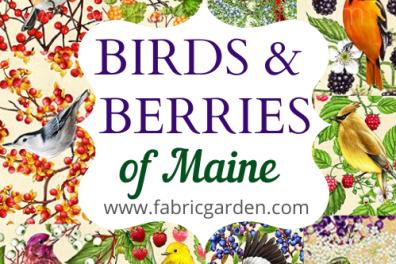 Birds and Berries of Maine Fabrics