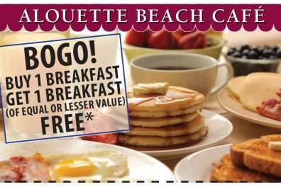 BOGO BREAKFAST BUY 1 GET 1 FREE
