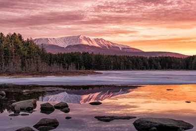 Katahdin Sunrise Reflection