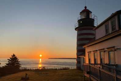 Sunrise over West Quoddy Head Lighthouse, Bev Tabet Photography