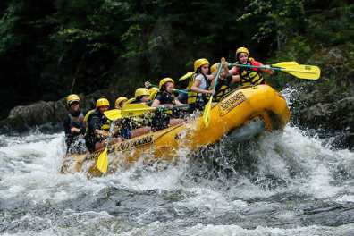 Rafting the Kennebec River
