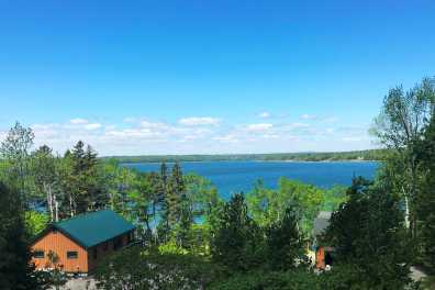 View From our Log Chalet just 5 Miles From Acadia National Park