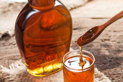 Flat Bottle with syrup