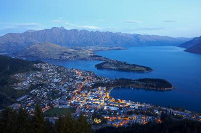 Queenstown Aerial View at Dusk - Small