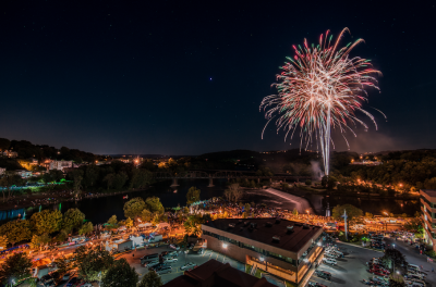 Fireworks Celebrating Easton Heritage Day | Discover Lehigh Valley, PA