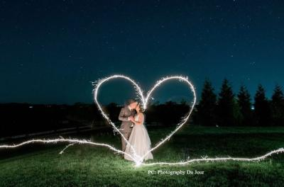 Wedding Heart with Sparklers