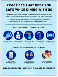 Practices that keep you safe while dining with us