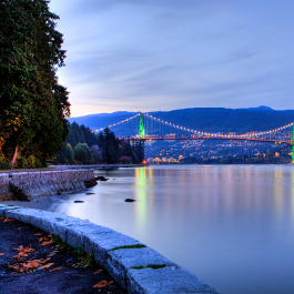 Lions Gate Bridge at Dusk