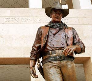 John Wayne Statue airport