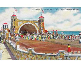 Echo Gallery Bandshell Postcard