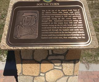 Ponce Inlet Beach Racing Historic South Turn Marker