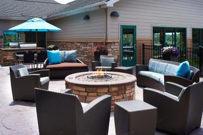 Patio with Fire Pit and BBQ Grill