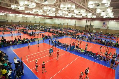 Volleyball at the Memorial Coliseum