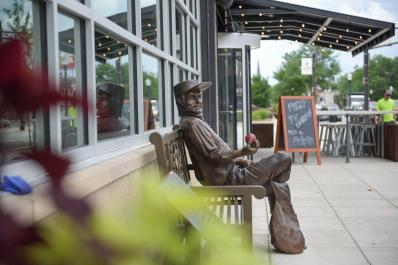 Johnny Appleseed on Bench