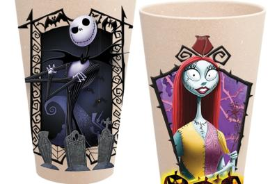 Nightmare Before Christmas Jake & Sally Bamboo Tumbler Set