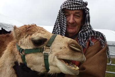 Camel & Man
