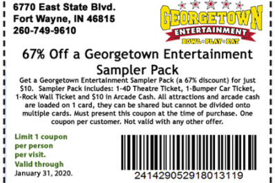 67% Off Georgetown Entertainment Sampler