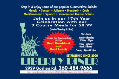 Liberty Diner 2017 Ad Graphic