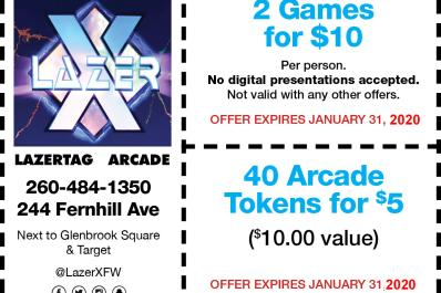 2 Games for $10 per person