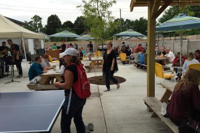 Beer Garden Ping Pong