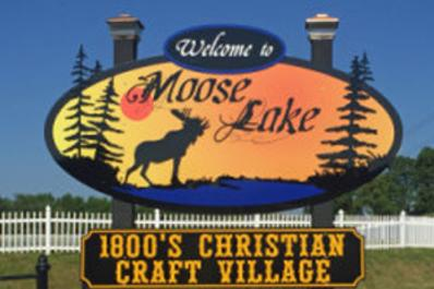Moose Lake Sign