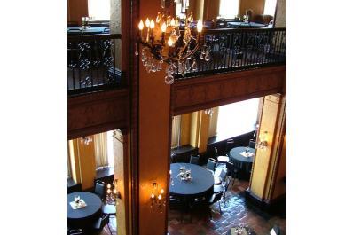 Embassy Theatre Indiana Hotel Lobby Tables Setup