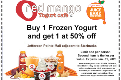 Red Mango Coupon Expires 013120