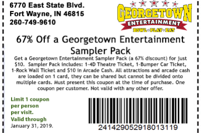67% Off a Georgetown Entertainment Sampler Pack
