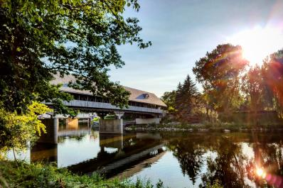 Michigan's Youngest Wooden Covered Bridge