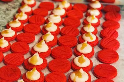 Fireball Macarons!