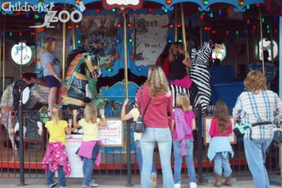 Take a spin on the region's only hand-carved carousel!